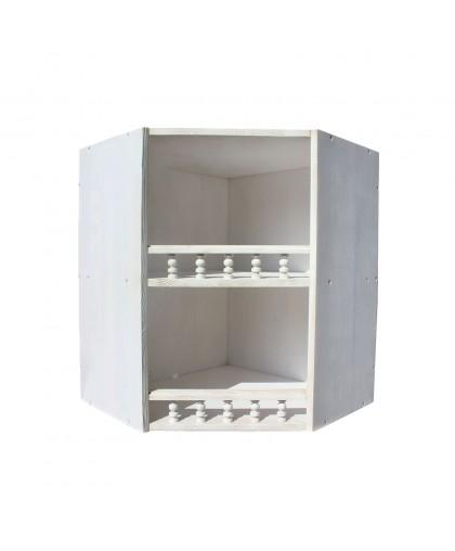 Шкаф настенный угловой Викинг GL №11 белая патина