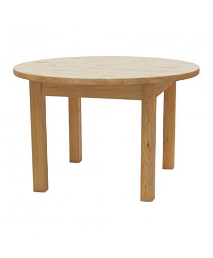Стол круглый нераздвижной «TAB R 120 ST», d=120 см, отделка: старение (сосна)