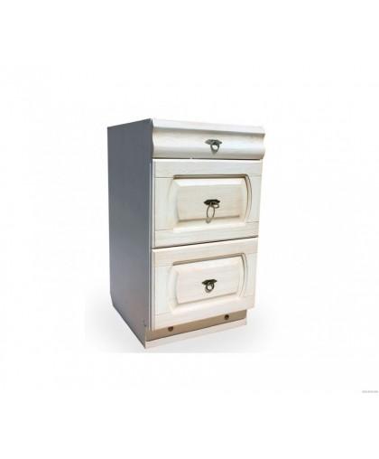 Шкаф-стол (600 мм) «Викинг GL» (с метабоксами) №16,белая патина