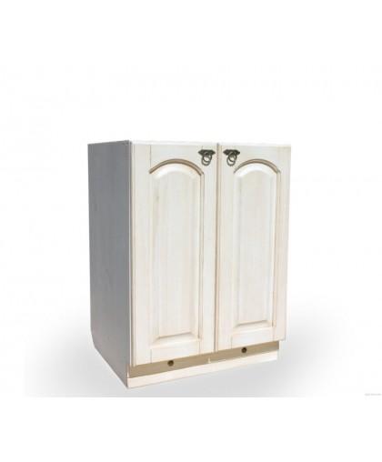 Шкаф-стол (800 мм) «Викинг GL» с 2-мя гл. дверями №27,белая патина