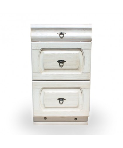 Шкаф-стол с 3-мя ящиками (450мм) Викинг GL (с метабоксами) №2,белая патина