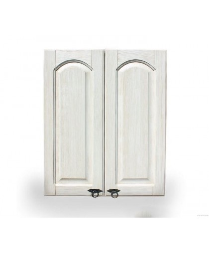 Шкаф настенный (800 мм) «Викинг GL» (сушка) №33,белая патина