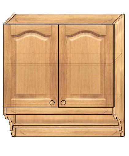 Шкаф настенный кухонный 800 мм МД-05 сушка  из массива сосны