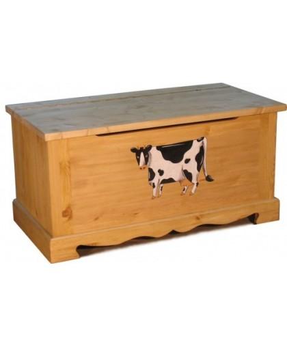 Сундук с росписью Коровка COFFRE 100 paint Vache