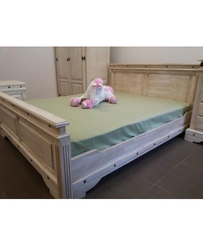 """Кровать двуспальная """"Викинг 01"""" (1600*2000).белая брашир."""