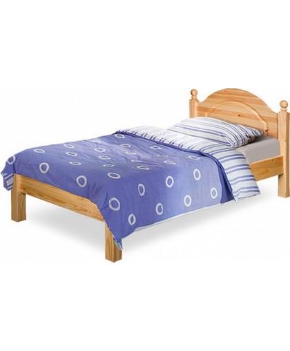 """Кровать """"Лотос"""" 90 с низкой спинкой BRU мокко/белая патина"""