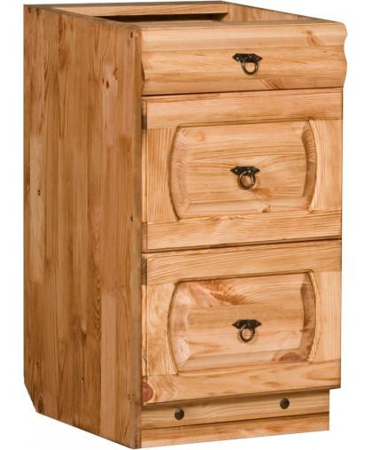 Шкаф-стол с 3-мя ящиками (450мм) Викинг GL (с метабоксами) №2