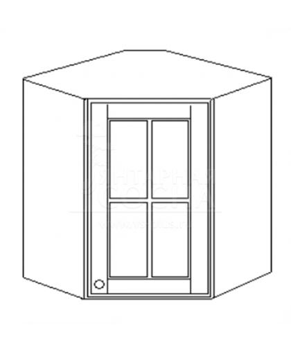 Скайда-2 Шкаф навесной 60 угловой (1 дв.; стекло) H60 RZQ