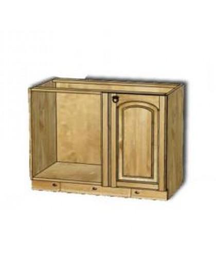 Шкаф-стол в угол (990 мм) Викинг GL (с полкой) №6