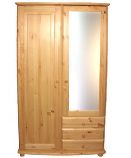 """Шкаф"""" Фалько-1"""" МД 848-01 с зеркалом  из массива сосны"""