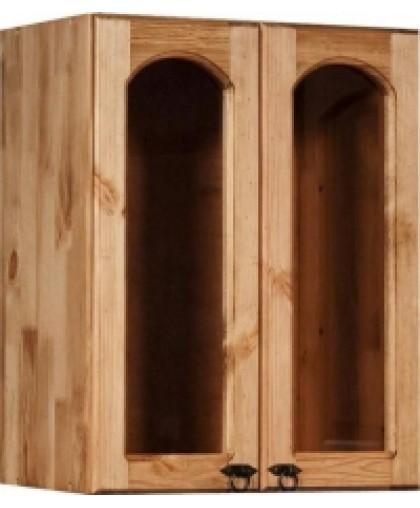 Шкаф настенный (800 мм) с 2-мя стекл. дверками «Викинг GL» №32