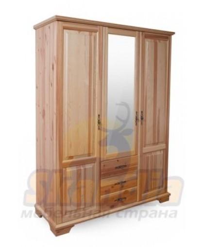 "Шкаф 3-х створчатый ""Brusno"" с ящ. и зеркалом"