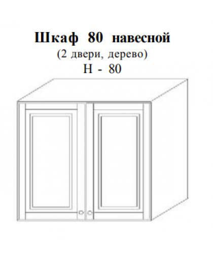Скайда-2 Шкаф навесной 80 (2 дв.; дерево) H80