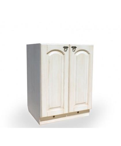 Шкаф-стол (600 мм) Викинг GL (с полкой) №3,белая патина