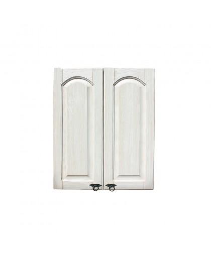 Шкаф настенный над мойкой (600 мм) Викинг GL (сушка) №10,белая патина