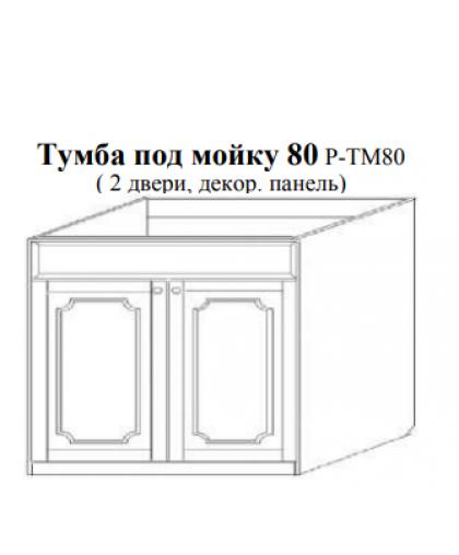 Скайда-1 Тумба под мойку 80 (2 дв.; декор. панель) Р - ТМ80